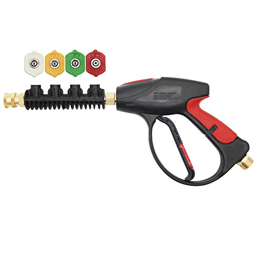 Twinkle Star Pressure Washer Gun, 3000 PSI with 4-Color...