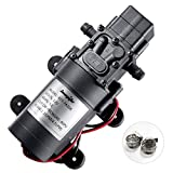 bayite 12V DC Fresh Water Pump with 2 Hose Clamps 12...