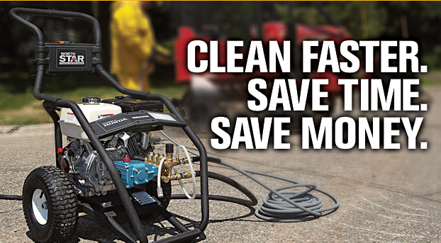 pressure washer saves time
