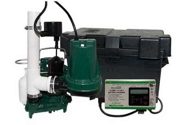 Basement & Water Powered Battery Backup Sump Pump System