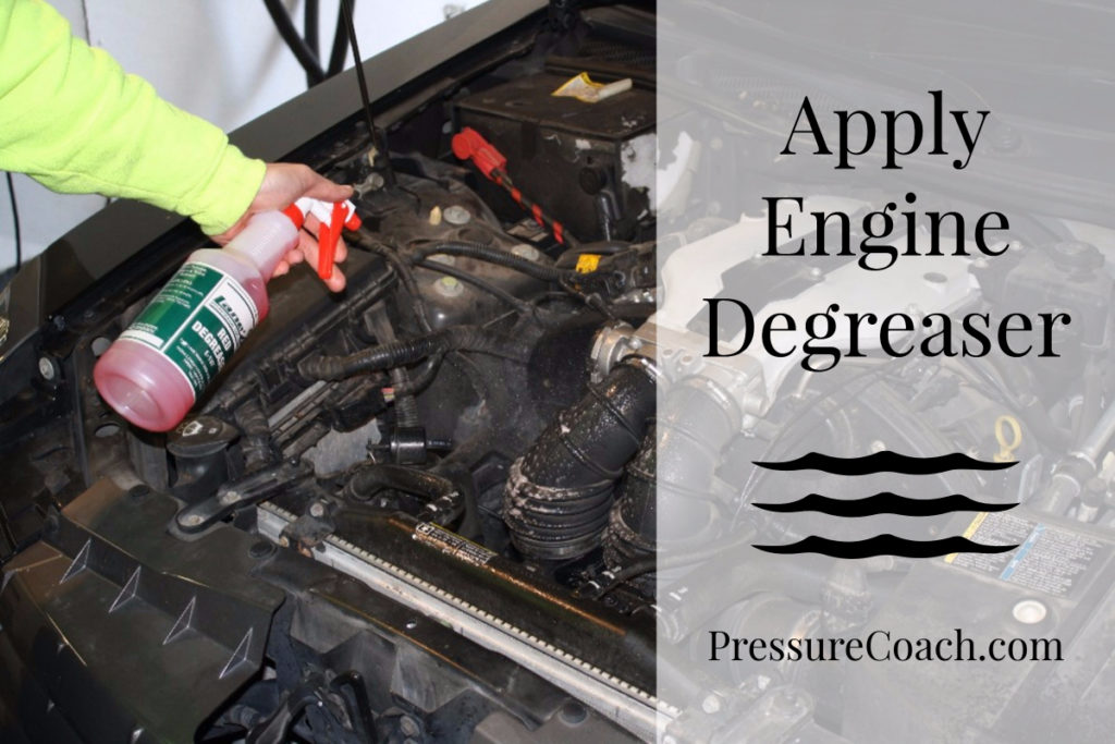 Apply Engine Degreaser