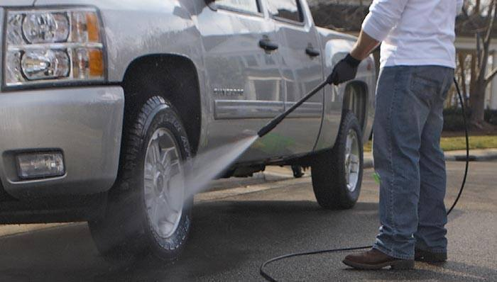 how to wash your car with pressure washer