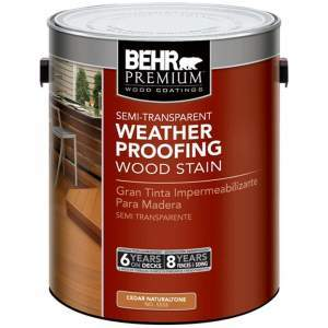 behr premium semi transparent weatherproofing wood stain