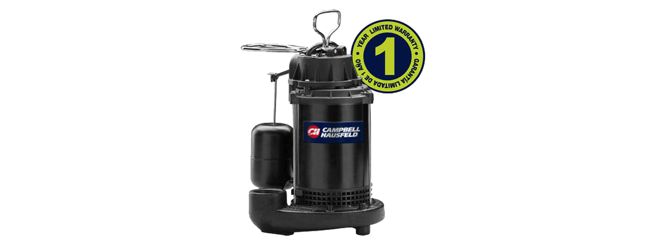 Campbell Hausfeld 1/2 HP Cast Iron Submersible Sump Pump