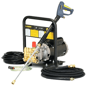 Wall mounted electric pressure washer