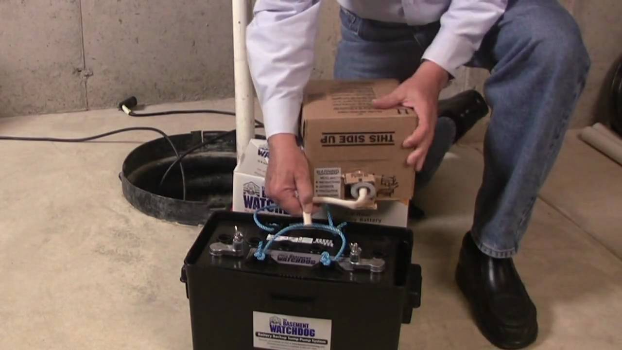how to install battery backup to existing sump pump