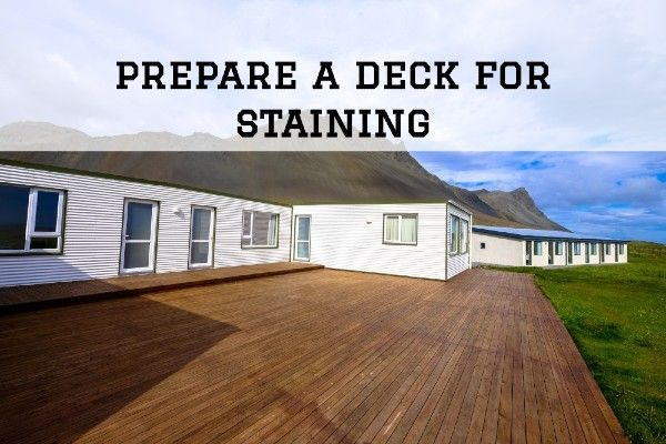 How To Prepare Exterior Wood For Staining