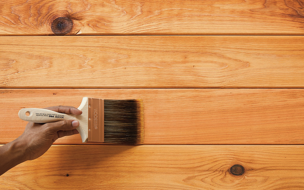 how to stain treated wood