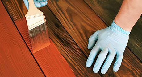 staining a previously stained deck