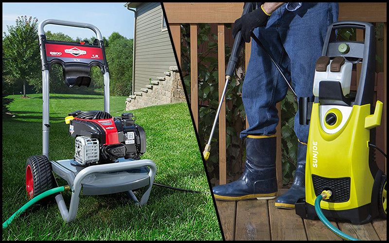 Types of electric pressure washer